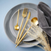 Kép 7/7 - STILETTO evőeszköz szett arany matt-Katica Online Piac