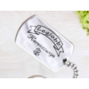 Kép 1/7 -  Legjobb Keresztanya acél szögletes medálos kulcstartó-Katica Online Piac