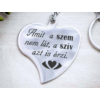 Kép 4/7 - A szív azt is érzi acél medálos kulcstartó-Katica Online Piac