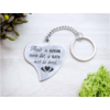 Kép 7/7 - A szív azt is érzi acél medálos kulcstartó-Katica Online Piac