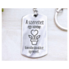 Kép 2/7 - A szeretet egy növény acél medálos kulcstartó-Katica Online Piac