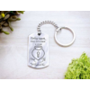 Kép 3/7 - Csak te nyithatod acél medálos kulcstartó-Katica Online Piac