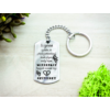 Kép 3/7 - A szeretet szelíden acél medálos kulcstartó-Katica Online Piac