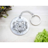 Kép 3/7 - Borz koma acél medálos kulcstartó-Katica Online Piac