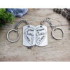 Kép 4/4 -  Örökké a miénk acél medálos páros kulcstartó-Katica Online Piac