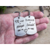 Kép 7/7 - Te vagy a hiányzó acél medálos páros kulcstartó-Katica Online Piac