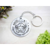 Kép 5/7 - Szűz lovely horoszkóp acél medálos kulcstartó-Katica Online Piac