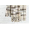 Kép 3/4 -  NEPAL Drapp színű kockás pléd 130*170 cm-Katica Online Piac