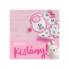 Kép 2/2 - Minnie egér baba ajándék szett - pamut ajándék kislányoknak - rózsaszín-fehér-Katica Online Piac