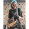 Kép 4/7 -  Vállra tehető hordozó-Szürke-sárga-Katica Online Piac