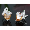 Kép 4/7 - Aurora Swarovski kristályos szív alakú fülbevaló - Borostyán-Katica Online Piac