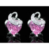 Kép 5/6 - Exclusive Swarovski kristályos szett -szív alakú rózsaszín kővel-Díszdobozban-Katica Online Piac