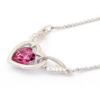 Kép 4/7 - Swarovski kristályos szárnyaló szív medál pink kővel-Katica Online Piac
