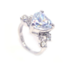 Kép 1/5 - Swarovski kristályos Nagy Szíves gyűrű-8-Katica Online Piac