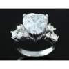 Kép 4/5 - Swarovski kristályos Nagy Szíves gyűrű-8-Katica Online Piac
