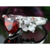 Kép 5/6 - Swarovski kristályos piros szíves gyűrű-7-Katica Online Piac