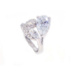 Kép 1/5 -  Swarovski kristályos dizájnos gyűrű-6-Katica Online Piac