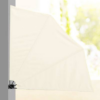 Kép 3/4 -  Legyező árnyékoló erkélyre, 140 cm - fehér-Katica Online Piac