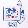 Kép 1/2 -  Mickey egér baba kapucnis törölköző - pamut babatörölköző – fehér-sötétkék-Katica Online Piac
