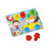 Kép 2/4 -  Quercetti: Montessori Autós építőjáték 4db-os-Katica Online Piac