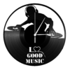 Kép 3/5 - Bakelit óra - I love good music-Katica Online Piac