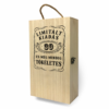 Kép 3/4 - Fa bortartó doboz - 2 üvegnek 30. Születésnapra-Katica Online Piac