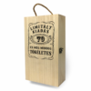 Kép 2/4 - Fa bortartó doboz - 2 üvegnek 70. Születésnapra-Katica Online Piac