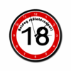 Kép 4/5 - Sebességkorlátozós falióra 18. születésnapra-Katica Online Piac