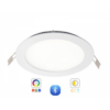 Kép 2/6 - RGB-CCT LED panel -12W-süllyesztett -kerek -dimmelhető --Bluetooth -LEDISSIMO SMART-Katica Online Piac