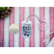 Büszke puli mami vagyok acél medálos kulcstartó-Katica Online Piac