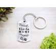 Büszke vizsla mami vagyok acél medálos kulcstartó-Katica Online Piac