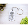 A szeretet egy növény acél medálos kulcstartó-Katica Online Piac