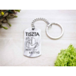 Tiszta mint a hattyú acél medálos kulcstartó-Katica Online Piac
