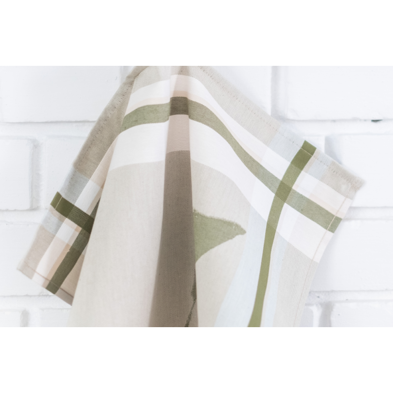 TEA Zöld színű konyharuha körte mintával 50*70 cm-Katica Online Piac