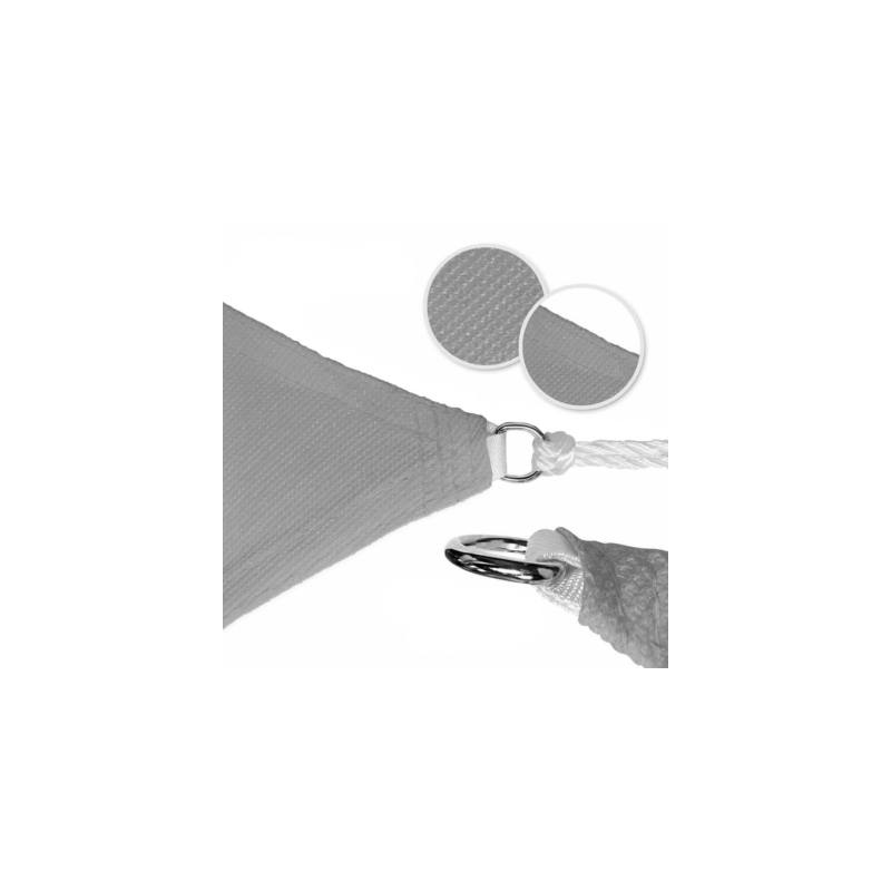 Háromszög alakú napvitorla, 3,6 méter, szürke-Katica Online Piac