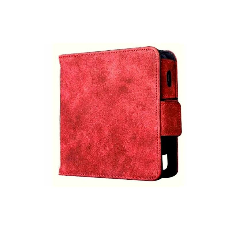IQOS 2.4 műbőrtok matt heets tartóval - piros-Katica Online Piac