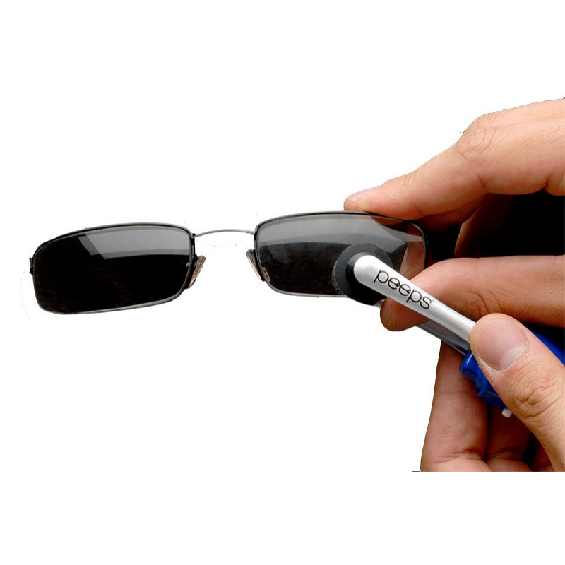 Peeps by Lenspen szemüvegtisztító, aktívszenes és antibakteriális fekete/fehér-Katica Online Piac