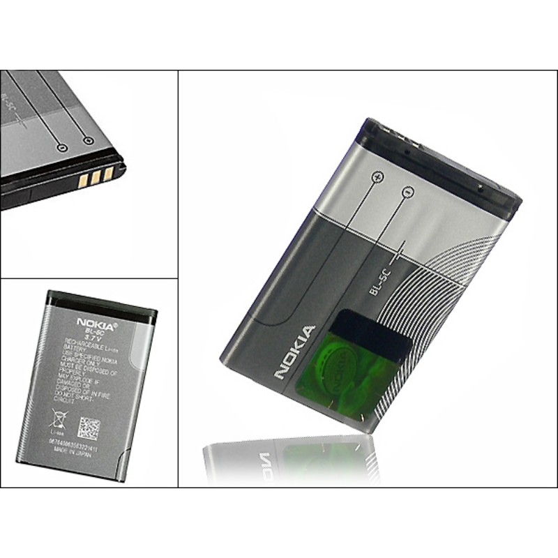 Nokia 6230/6030/N70/N91 gyári akkumulátor - Li-Ion 1020 mAh - BL-5C (ECO csomagolás)-Katica Online Piac