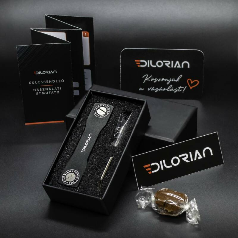 Dilorian Kulcsrendező kompakt prémium minimalista alumínium kulcstartó bővítő csomaggal és üvegnyitóval-Katica Online Piac