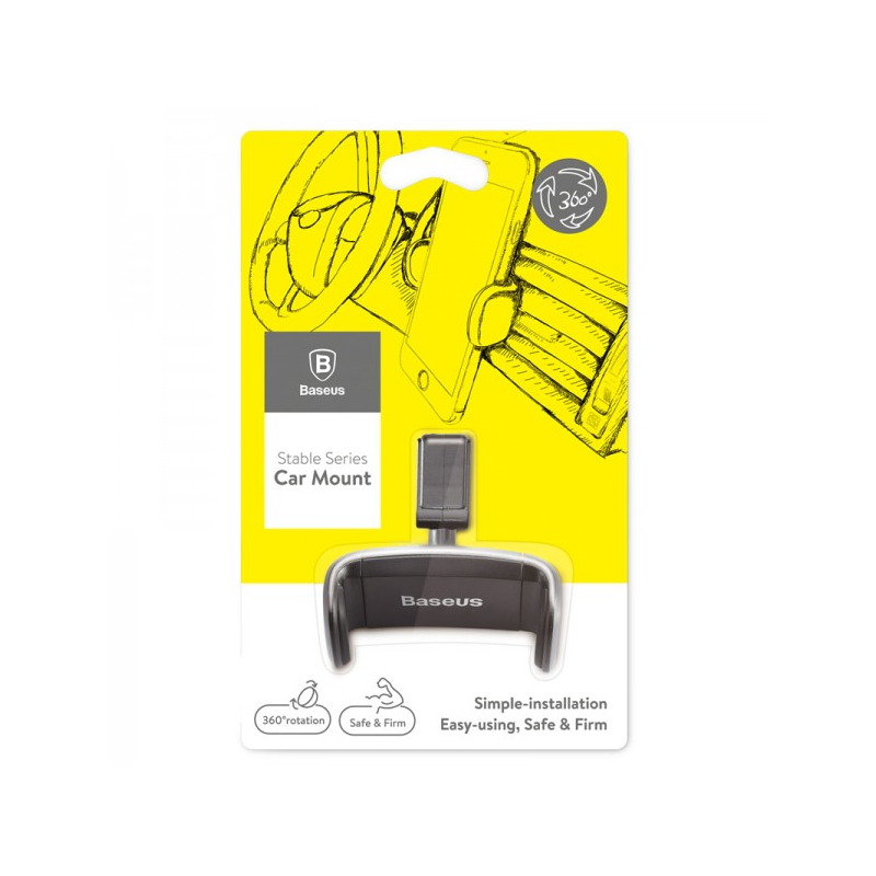 Baseus Stable autós telefontartó szellőzőrácsra - Fekete-Katica Online Piac