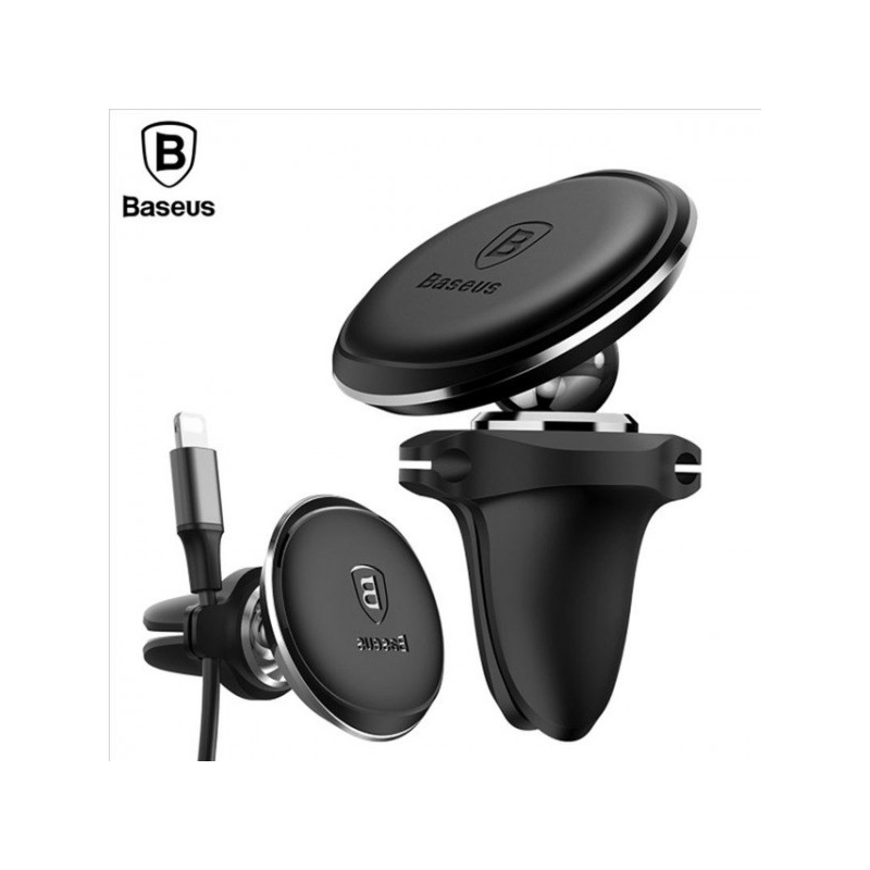 Baseus Air Vent mágneses autós telefontartó szellőzőrácsra - Fekete-Katica Online Piac