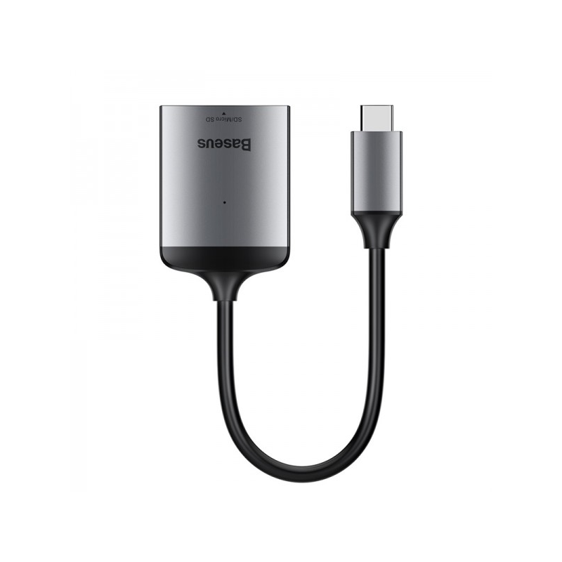 Baseus Enjoy Type-C Micro SD kárytaolvasó adapter - szürke-Katica Online Piac
