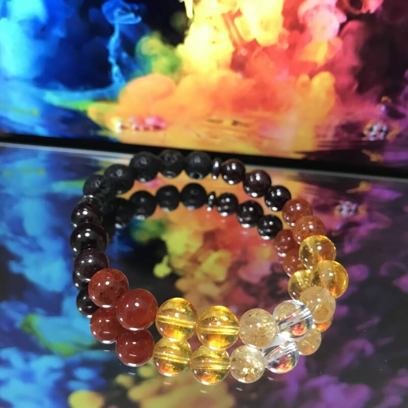 Mina Moriarkh Karkötő diffúzor Rainbow-Lava (ásvány, kristály)
