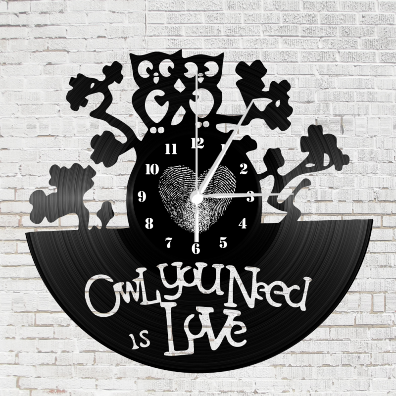 Bakelit óra - Owl you need is love-Katica Online Piac