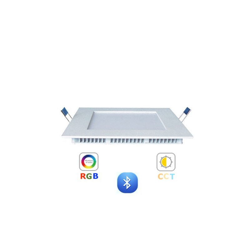 RGB-CCT LED panel - 12W -süllyesztett -négyzet -dimmelhető -Bluetooth - LEDISSIMO SMART-Katica Online Piac